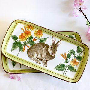 Spring Bunny Dessert Plates
